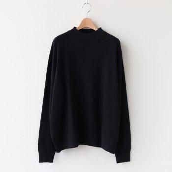 MOCK NECK LONG T-SHIRT #BLACK [H2002-CS002] _ LENO   リノ