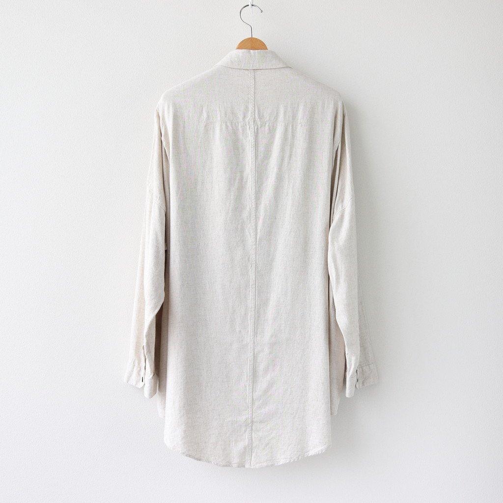 FOKSH 30/-レーヨンリネンキャンバス スモールカラーオーバーシャツ #NATURAL [A0_FR061SF]