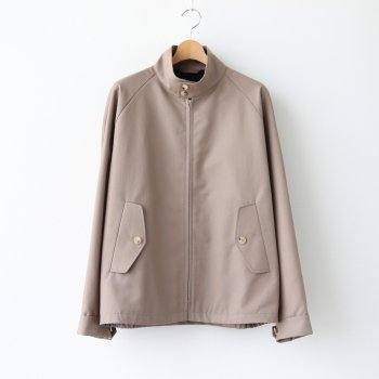 HARRINGTON WOOL55% COTTON45% - DORMEUIL WOOL COTTON GABARDINE #STONE [20AW-CKJK-005] _ The CLASIK | ザ・クラシック