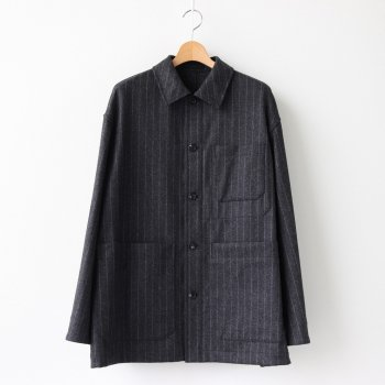 RAILWAY JACKET WOOL - FOX BROTHERS CHALK STRIPE FLANNEL #CHARCOAL [20AW-CKJK-007] _ The CLASIK | ザ・クラシック