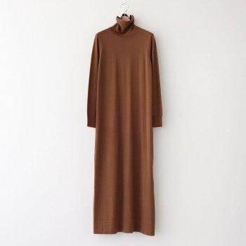 HIGH GAUGE TURTLE NECK KNIT DRESS #BROWN [GL203-80020] _ Graphpaper | グラフペーパー