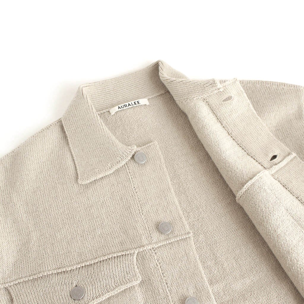 <img class='new_mark_img1' src='https://img.shop-pro.jp/img/new/icons1.gif' style='border:none;display:inline;margin:0px;padding:0px;width:auto;' />WOOL FINE SPINNING HEAVY KNIT BLOUSON #BEIGE [A20AB03RW]