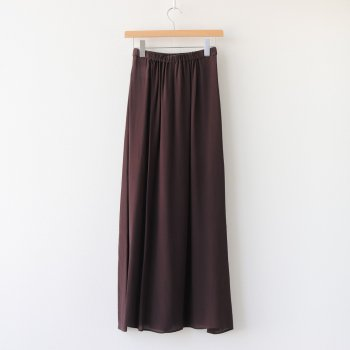 SILK DECHIN FRONT DRAPED SKIRT #BURGUNDY [SKAGBW0807] _ ATON | エイトン