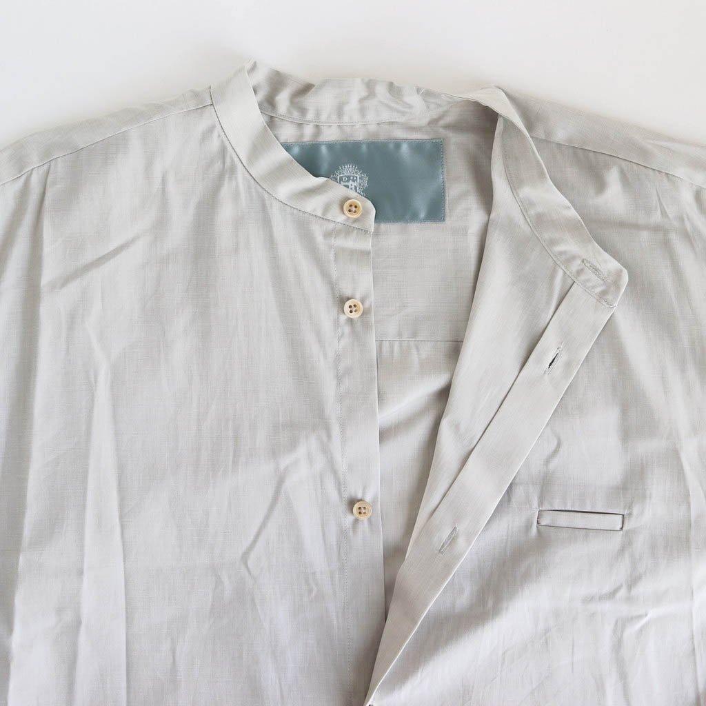 サイドZIPロングシャツ #LIGHT GRAY [D220-T797]