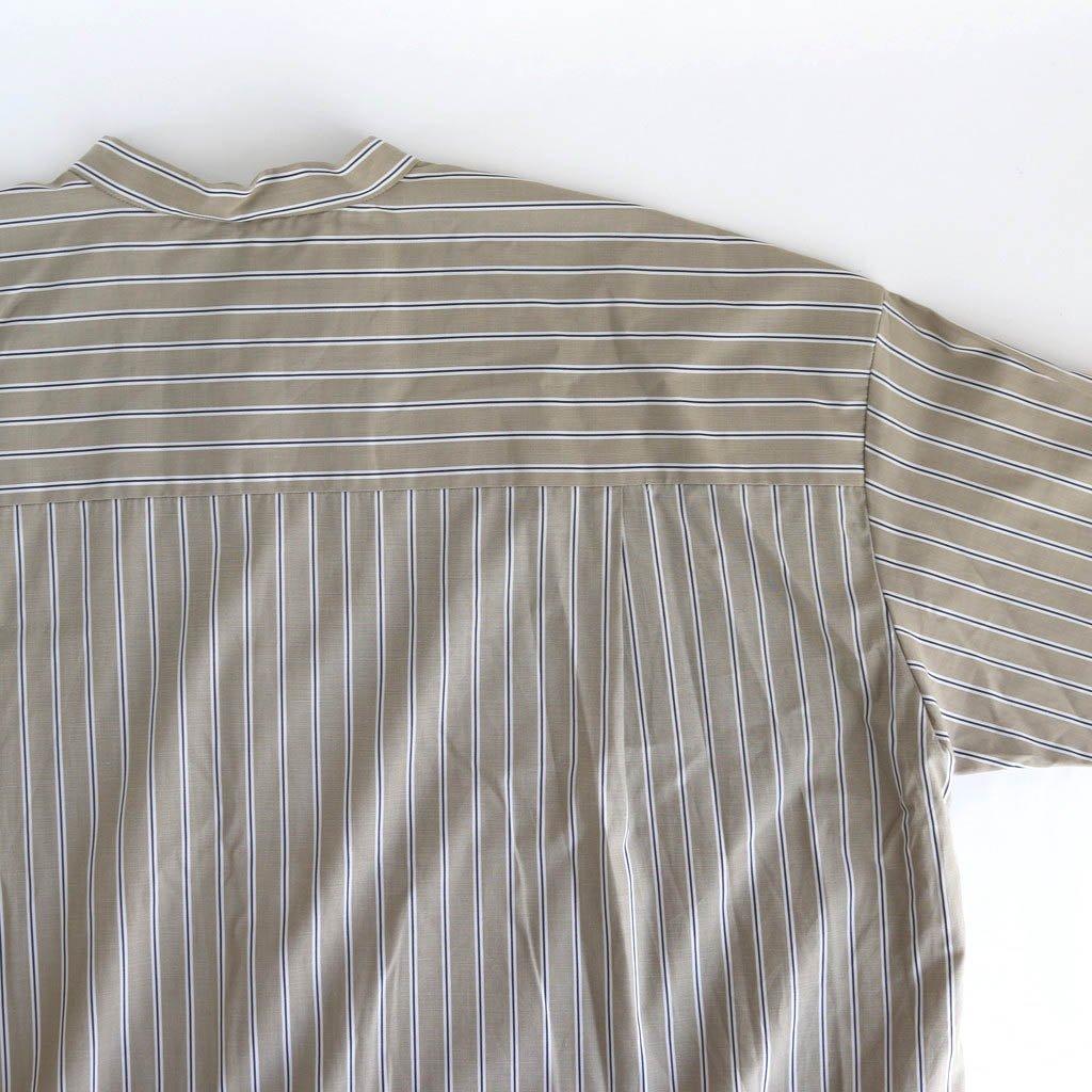 サイドZIPロングシャツ #BEIGE STRIPE [D220-T797]