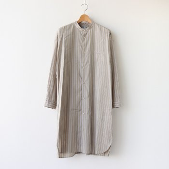 サイドZIPロングシャツ #BEIGE STRIPE [D220-T797] _ Dulcamara | ドゥルカマラ