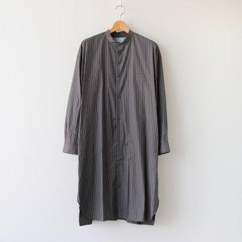 サイドZIPロングシャツ #BROWN STRIPE [D220-T797] _ Dulcamara | ドゥルカマラ