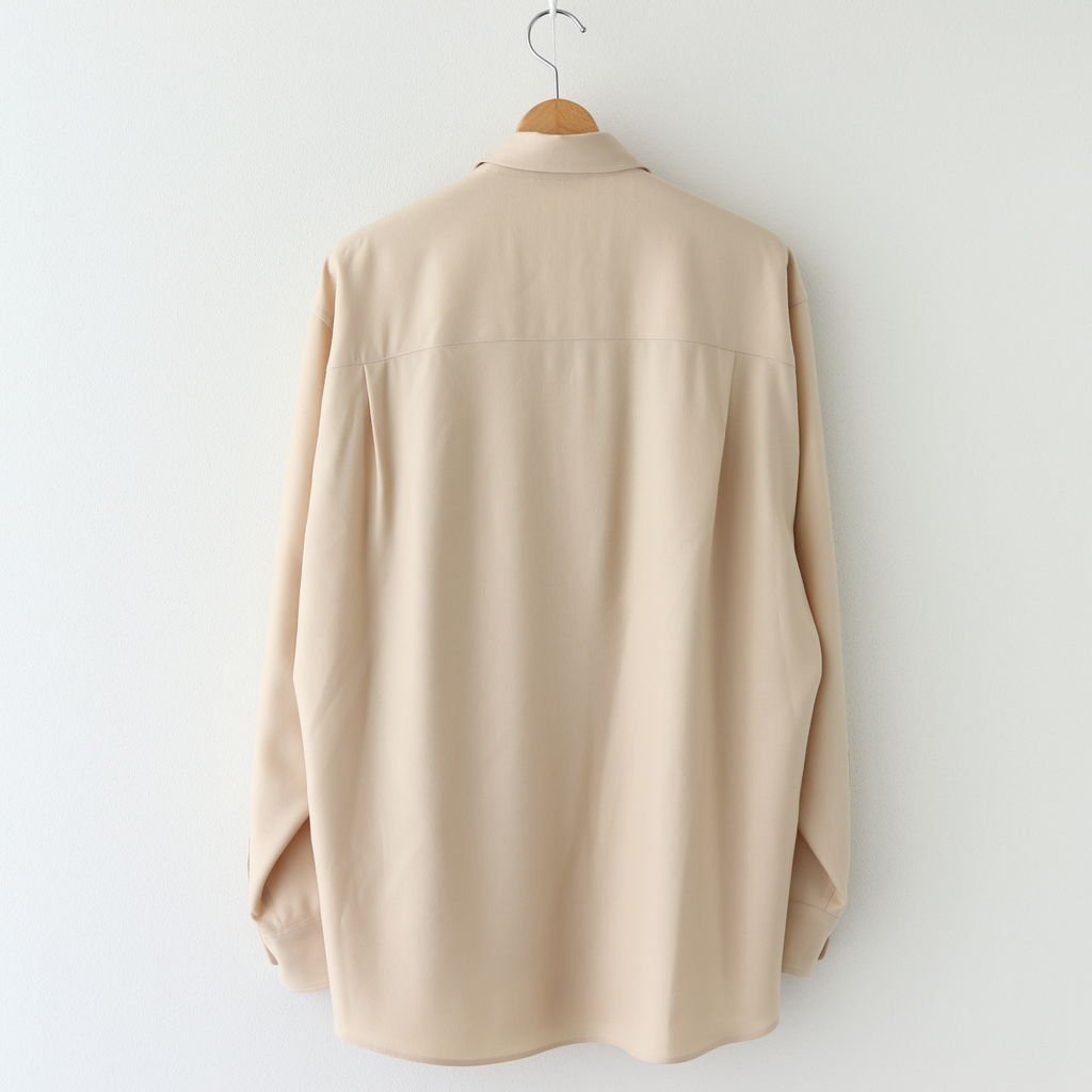 <img class='new_mark_img1' src='https://img.shop-pro.jp/img/new/icons1.gif' style='border:none;display:inline;margin:0px;padding:0px;width:auto;' />SUPER LIGHT WOOL SHIRTS #LIGHT BEIGE [A20AS01OS]