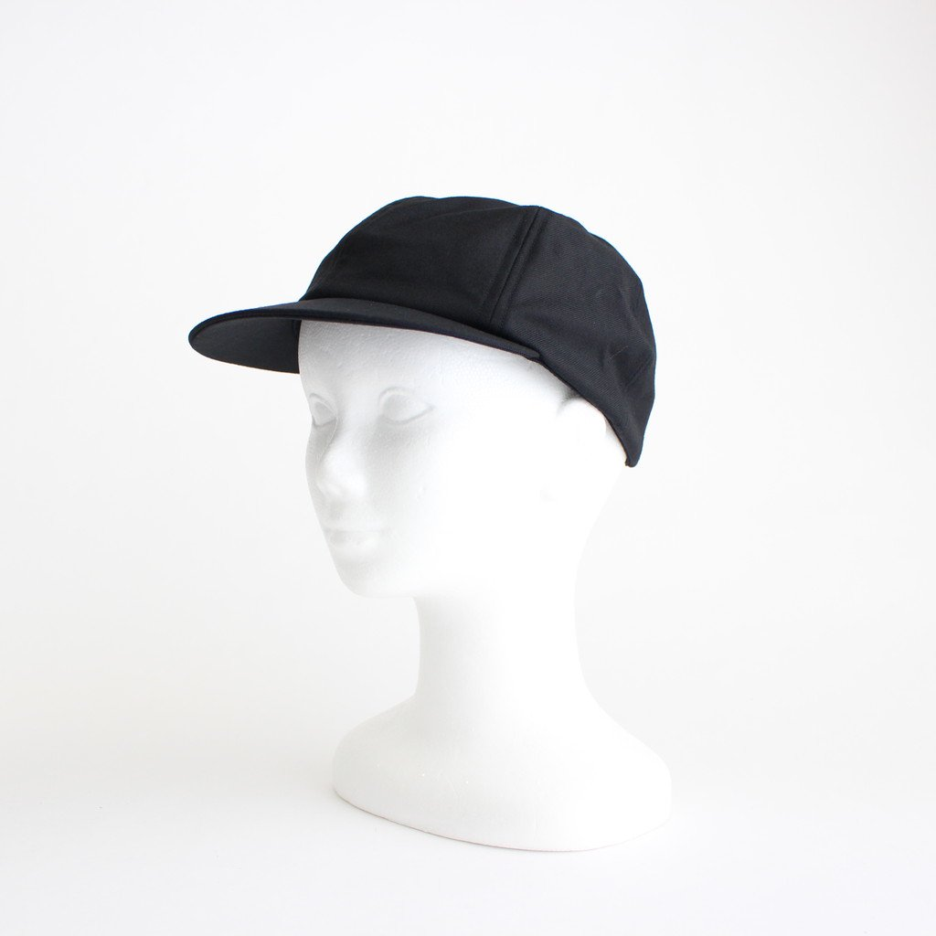 SUIT FABRIC SHORT BRIM CAP #BLACK [NO.17640]