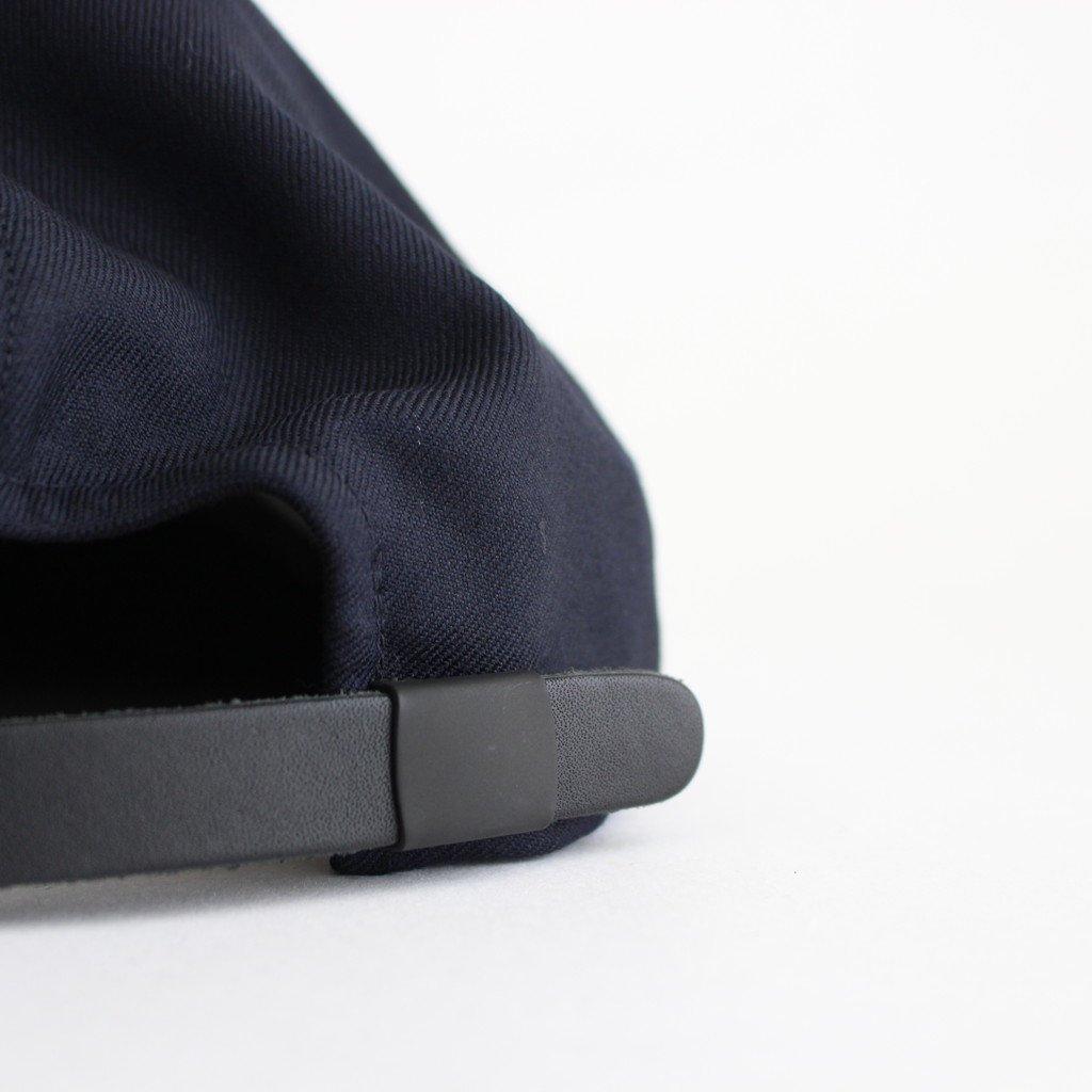 SUIT FABRIC SHORT BRIM CAP #NAVY [NO.17640]