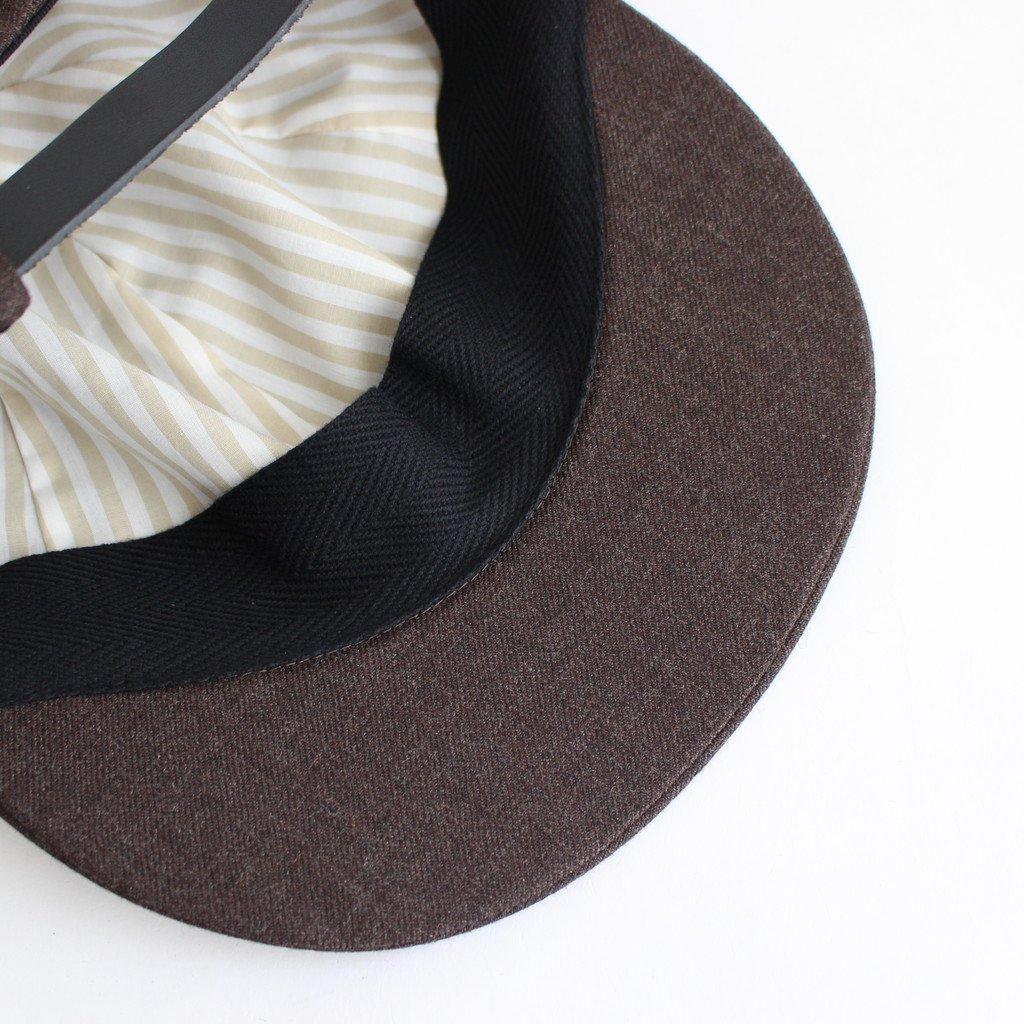 SUIT FABRIC SHORT BRIM CAP #KHAKI BROWN [NO.17640]