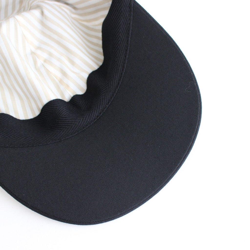 SUIT FABRIC CAP #BLACK [NO.17642]