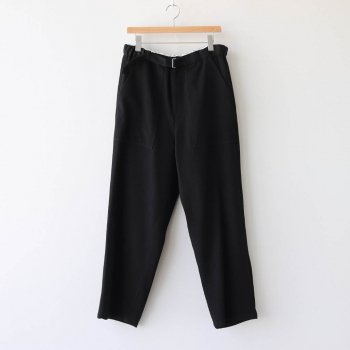 WOOL KERSEY BELTED BAKER PANTS #BLACK [GM203-40053] _ Graphpaper | グラフペーパー
