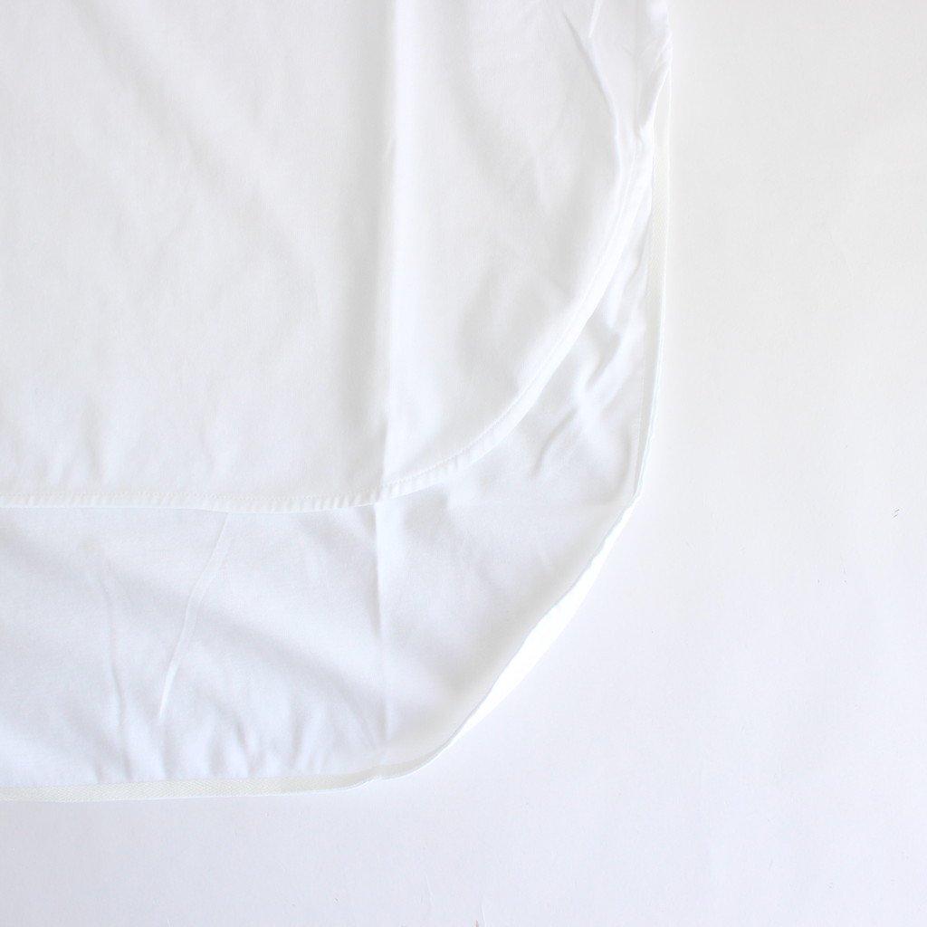 SUVIN 60/2 LONGSLEEVE ROUNDED HEM #WHITE [KKAGBW0802]