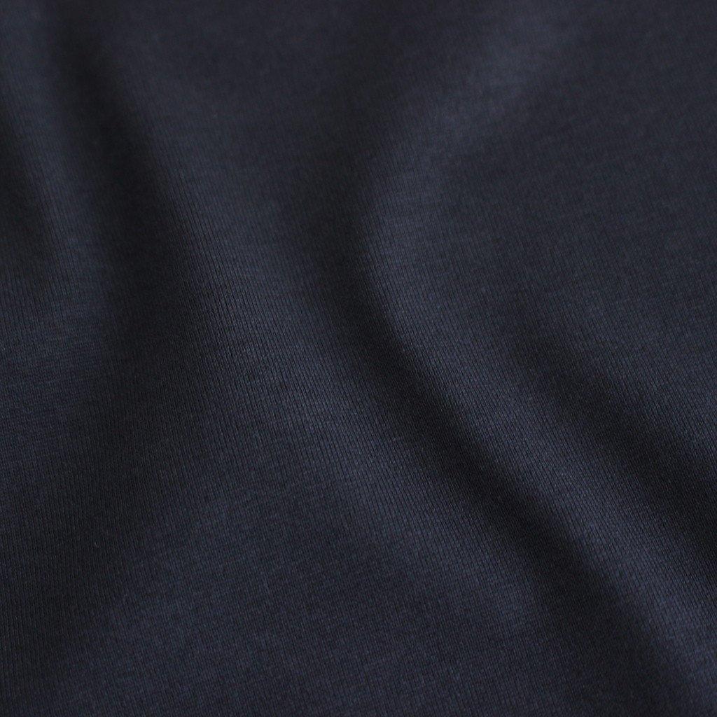 SUVIN 60/2 LONGSLEEVE ROUNDED HEM #NAVY [KKAGBW0802]