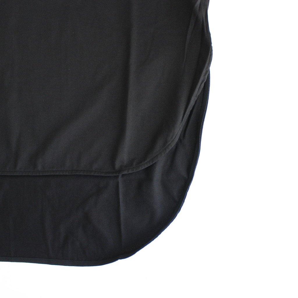 SUVIN 60/2 LONGSLEEVE ROUNDED HEM #BLACK [KKAGBW0802]