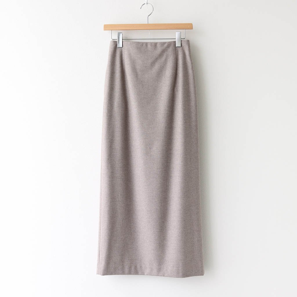<img class='new_mark_img1' src='https://img.shop-pro.jp/img/new/icons1.gif' style='border:none;display:inline;margin:0px;padding:0px;width:auto;' />WOOL FULLING FLANNEL SKIRT #TOP BEIGE [A20AS08CF]