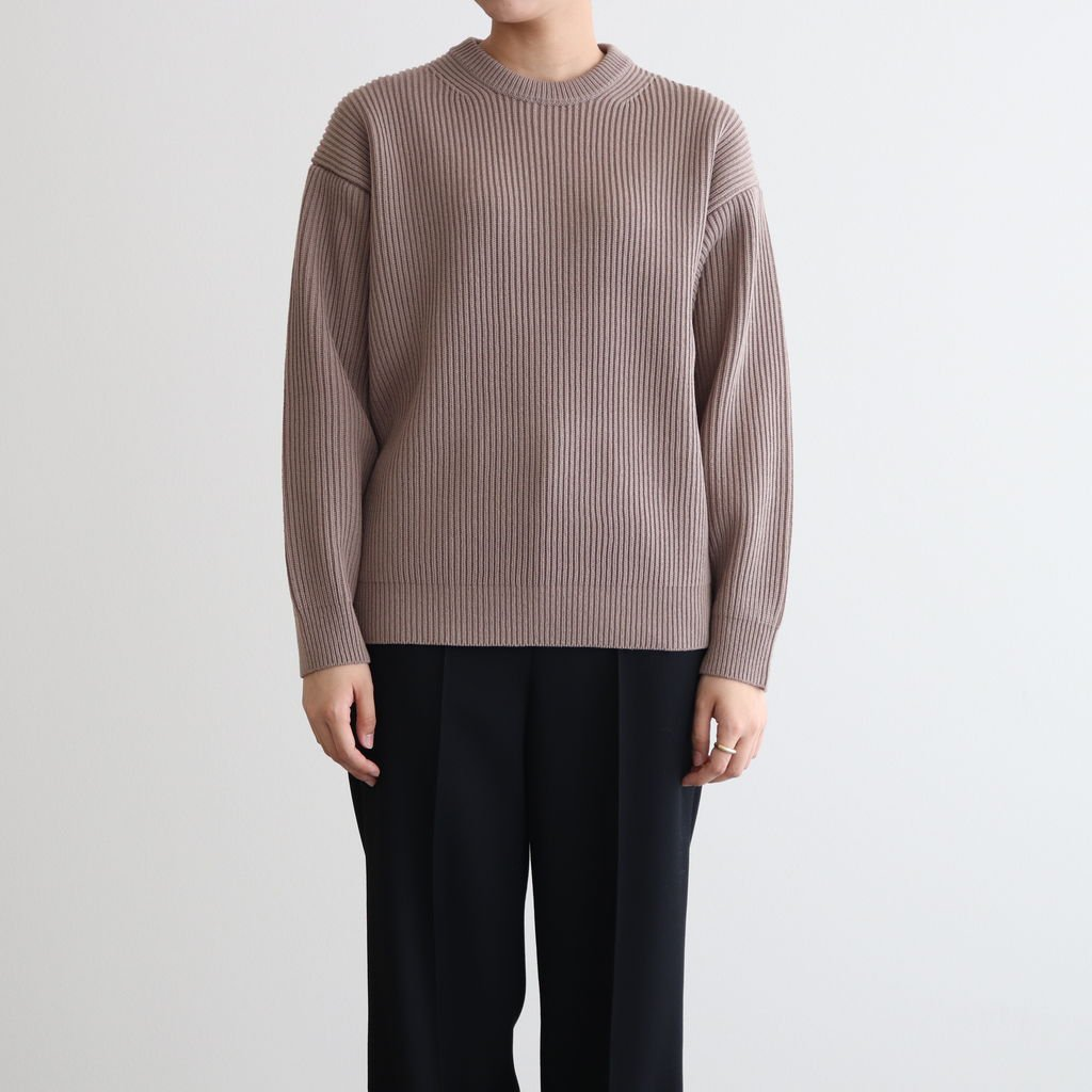 <img class='new_mark_img1' src='https://img.shop-pro.jp/img/new/icons1.gif' style='border:none;display:inline;margin:0px;padding:0px;width:auto;' />SUPER FINE WOOL RIB KNIT BIG P/O #LIGHT BROWN [A20AP06RK]