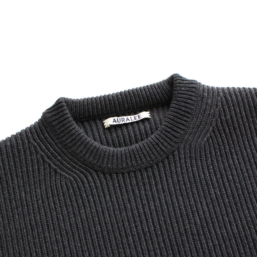 <img class='new_mark_img1' src='https://img.shop-pro.jp/img/new/icons1.gif' style='border:none;display:inline;margin:0px;padding:0px;width:auto;' />SUPER FINE WOOL RIB KNIT BIG P/O #TOP CHARCOAL [A20AP06RK]