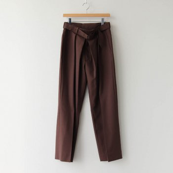 FRONT TUCK BELTED WIDE TROUSERS #BROWN [YK20AW0158P] _ YOKE | ヨーク