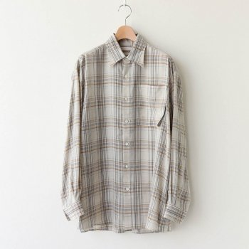 FULL OPEN PLAID SHIRTS #BEIGE PLAID [YK20AW0145SH] _ YOKE | ヨーク
