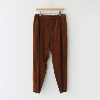 SUVIN CORDUROY EASY TAPERED PANTS #BROWN [PRAGBW0805] _ ATON | エイトン