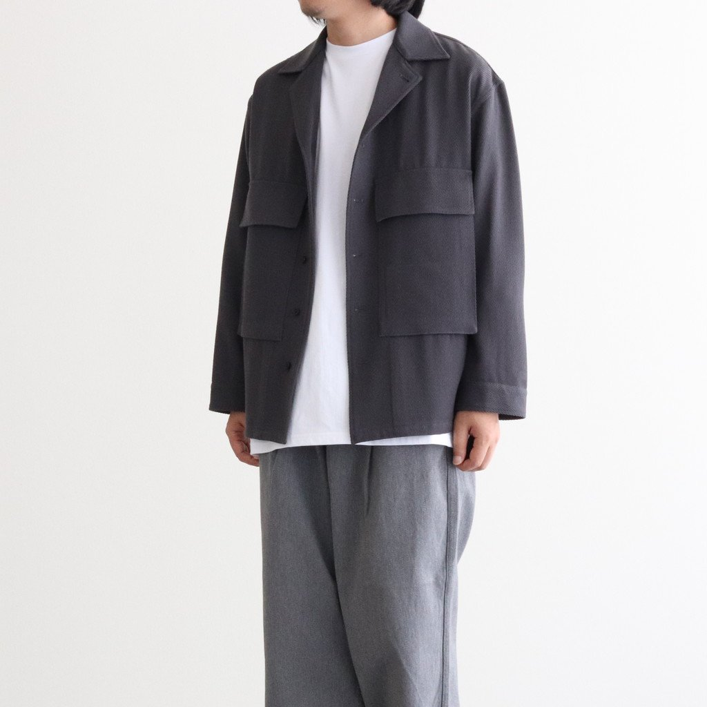 <img class='new_mark_img1' src='https://img.shop-pro.jp/img/new/icons1.gif' style='border:none;display:inline;margin:0px;padding:0px;width:auto;' />WOOL KERSEY FATIGUE SHIRT #C.GRAY [GM203-50051]