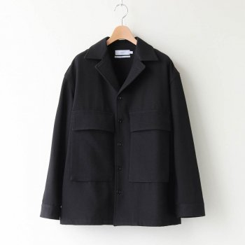 WOOL KERSEY FATIGUE SHIRT #BLACK [GM203-50051] _ Graphpaper | グラフペーパー