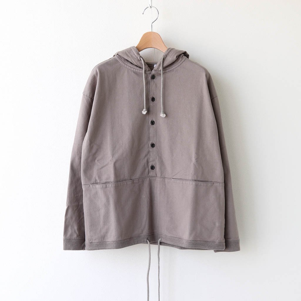 <img class='new_mark_img1' src='https://img.shop-pro.jp/img/new/icons1.gif' style='border:none;display:inline;margin:0px;padding:0px;width:auto;' />BUTTON P/O HOODIE #GRAY [2003-012W]