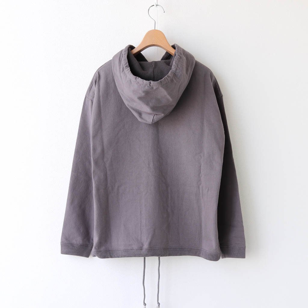<img class='new_mark_img1' src='https://img.shop-pro.jp/img/new/icons1.gif' style='border:none;display:inline;margin:0px;padding:0px;width:auto;' />BUTTON P/O HOODIE #D.GRAY [2003-012W]