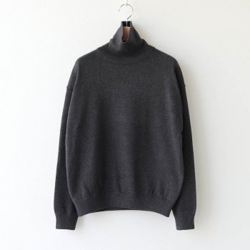 COTTON CASHMERE TURTLE #C.GRAY [2003-007W] _ crepuscule | クレプスキュール