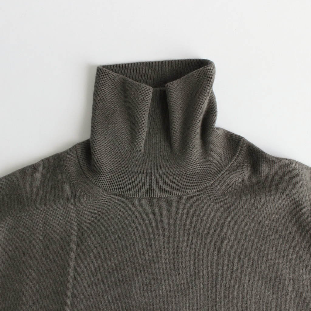 COTTON CASHMERE TURTLE #KHAKI [2003-007]