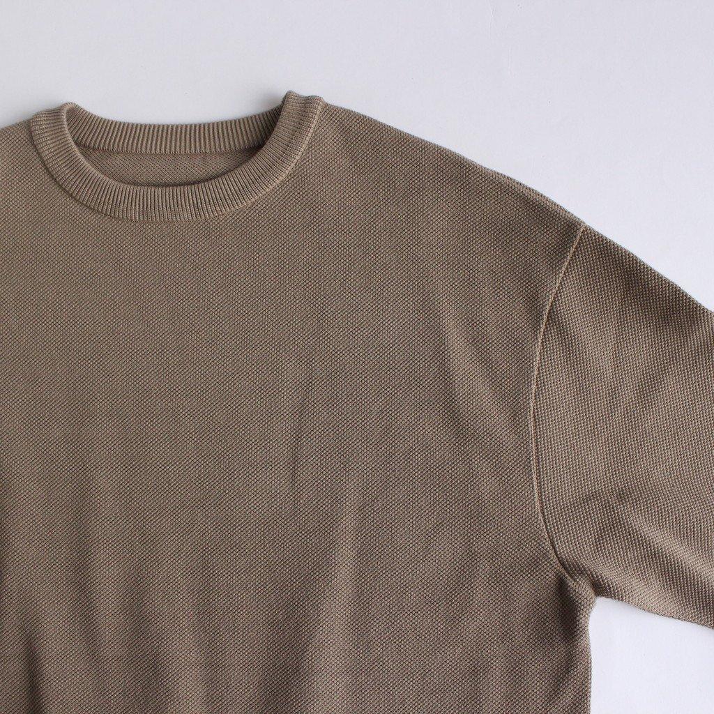 MOSS STITCH CREW SLIT #GRAYBEIGE [2003-003W]
