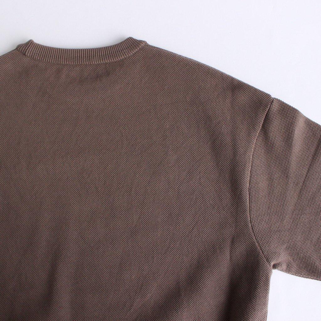MOSS STITCH CREW SLIT #BROWN [2003-003W]