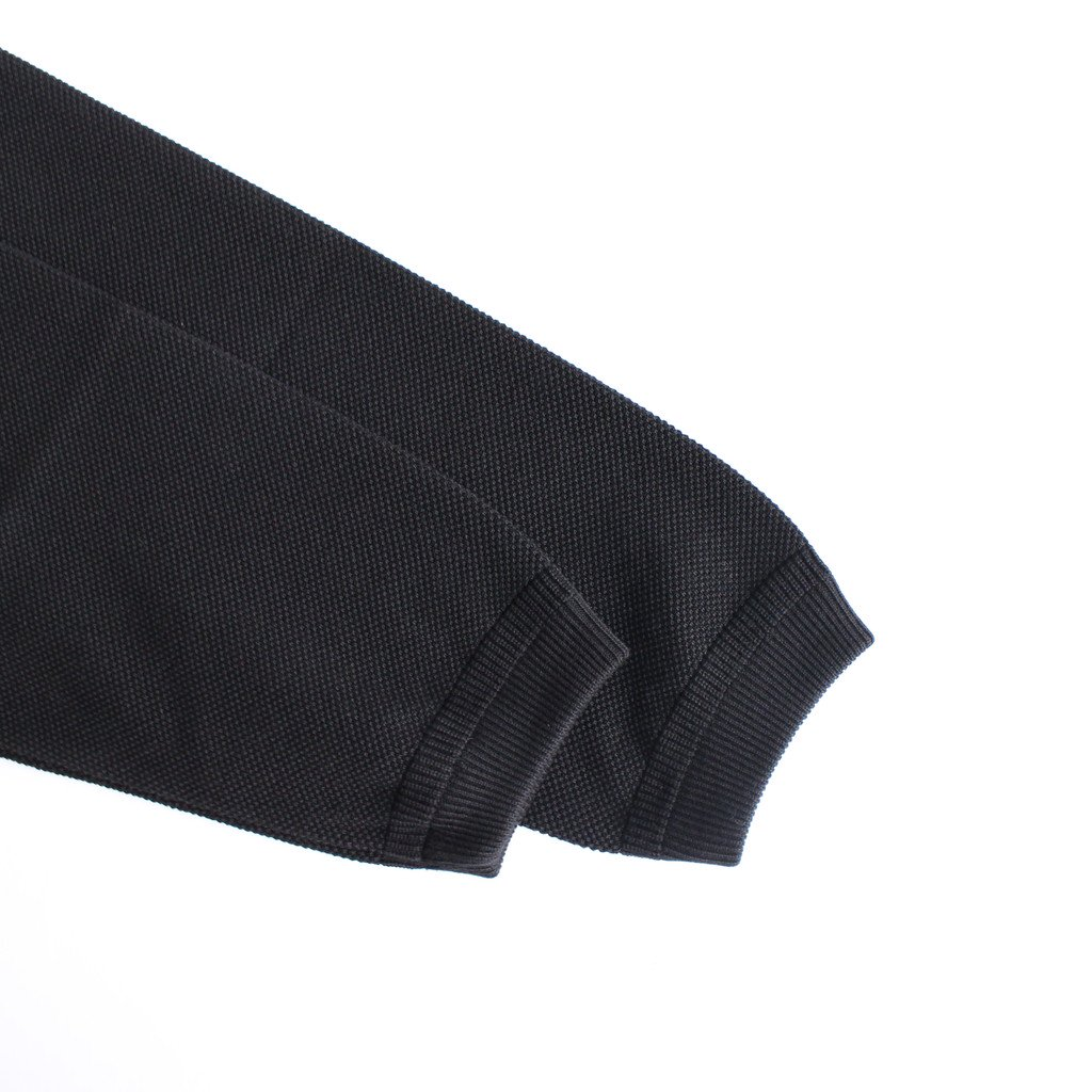 MOSS STITCH CREW SLIT #BLACK [2003-003W]
