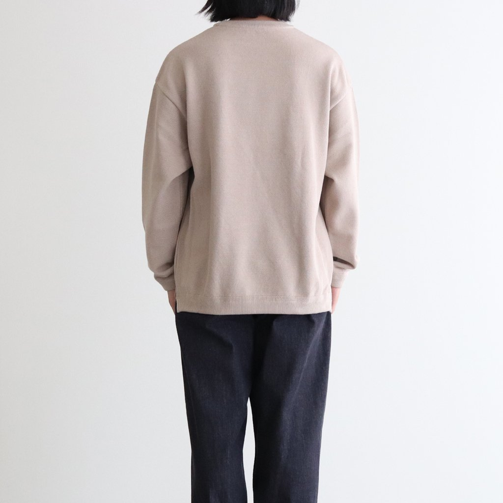 <img class='new_mark_img1' src='https://img.shop-pro.jp/img/new/icons1.gif' style='border:none;display:inline;margin:0px;padding:0px;width:auto;' />MOSS STITCH CREW SLIT #BEIGE [2003-003]