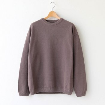 MOSS STITCH CREW SLIT #BROWN [2003-003] _ crepuscule | クレプスキュール