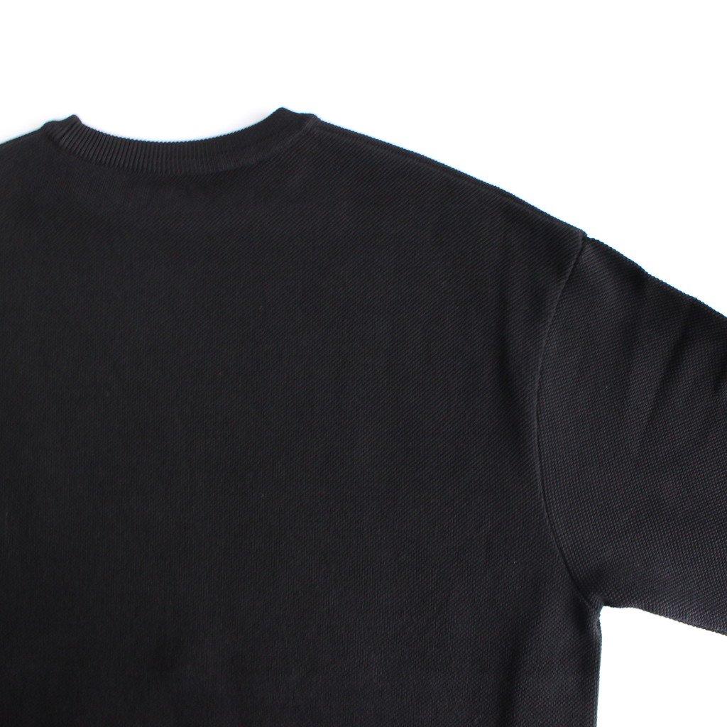 MOSS STITCH CREW SLIT #BLACK [2003-003]