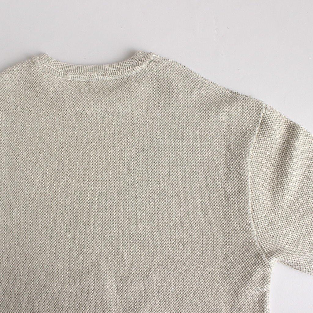 MOSS STITCH L/S SWEAT #WHITE [2003-001W]