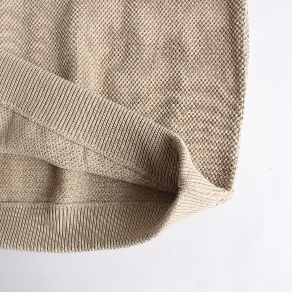 <img class='new_mark_img1' src='https://img.shop-pro.jp/img/new/icons1.gif' style='border:none;display:inline;margin:0px;padding:0px;width:auto;' />MOSS STITCH L/S SWEAT #BEIGE [2003-001W]