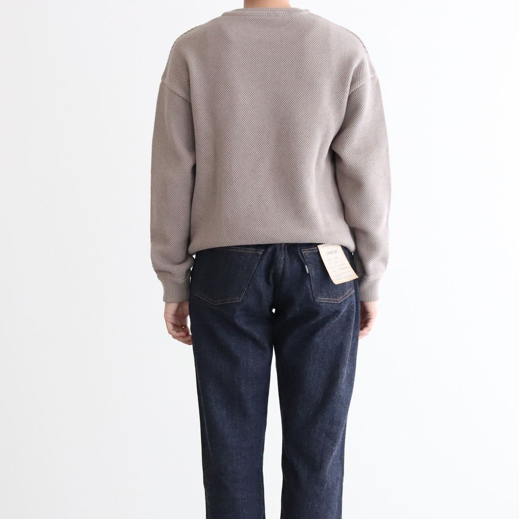 <img class='new_mark_img1' src='https://img.shop-pro.jp/img/new/icons1.gif' style='border:none;display:inline;margin:0px;padding:0px;width:auto;' />MOSS STITCH L/S SWEAT #GRAY [2003-001W]