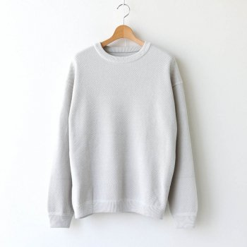 MOSS STITCH L/S SWEAT #WHITE [2003-001] _ crepuscule | クレプスキュール
