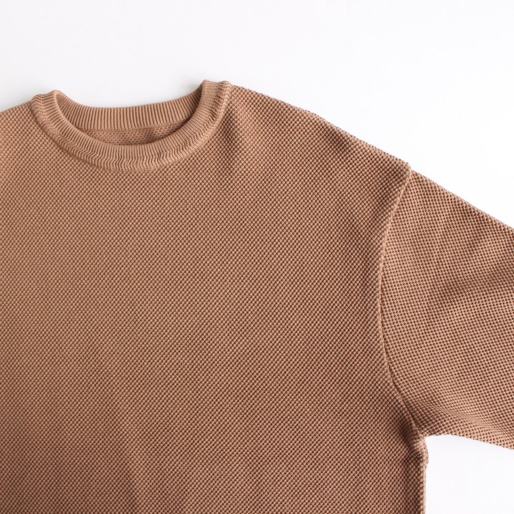 <img class='new_mark_img1' src='https://img.shop-pro.jp/img/new/icons1.gif' style='border:none;display:inline;margin:0px;padding:0px;width:auto;' />MOSS STITCH L/S SWEAT #L.BROWN [2003-001]