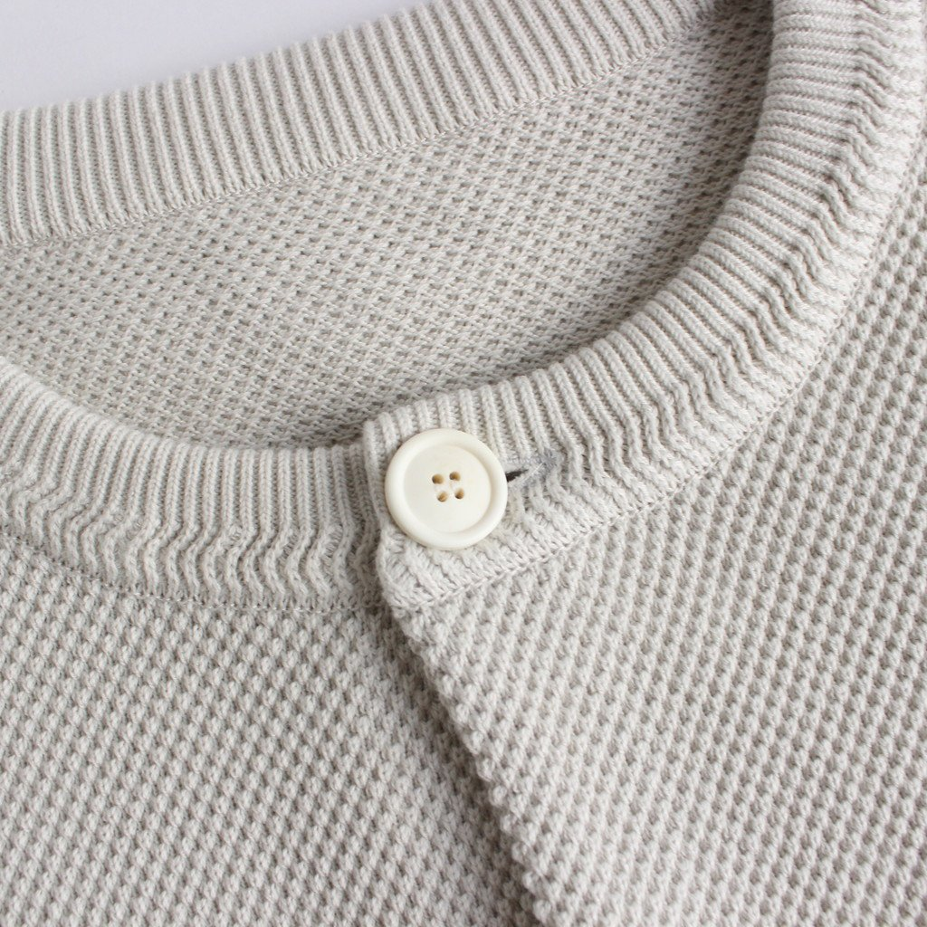 MOSS STITCH CREW CARDIGAN #WHITE [2003-002W]