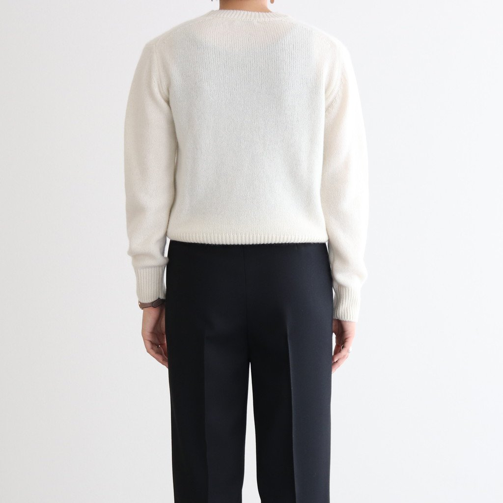 <img class='new_mark_img1' src='https://img.shop-pro.jp/img/new/icons1.gif' style='border:none;display:inline;margin:0px;padding:0px;width:auto;' />BABY CASHMERE KNIT P/O #NATURAL WHITE [A20AP04BC]