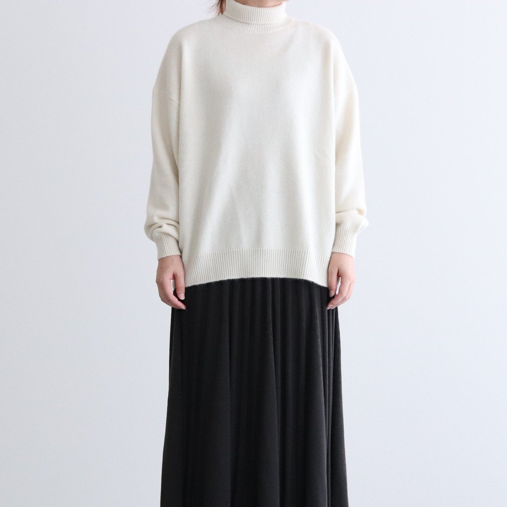 <img class='new_mark_img1' src='https://img.shop-pro.jp/img/new/icons1.gif' style='border:none;display:inline;margin:0px;padding:0px;width:auto;' />BABY CASHMERE KNIT TURTLE NECK P/O #NATURAL WHITE [A20AP05BC]