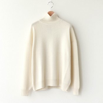BABY CASHMERE KNIT TURTLE NECK P/O #NATURAL WHITE [A20AP05BC] _ AURALEE | オーラリー