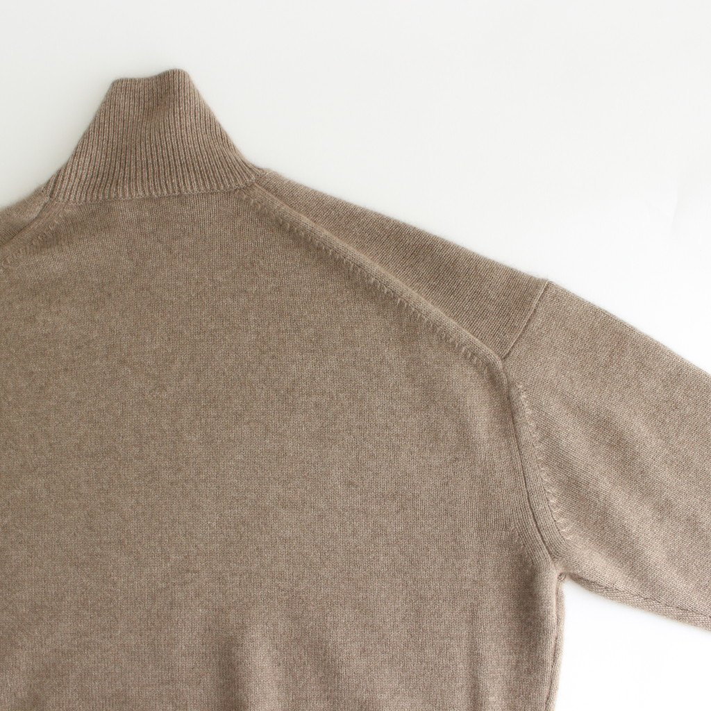 <img class='new_mark_img1' src='https://img.shop-pro.jp/img/new/icons1.gif' style='border:none;display:inline;margin:0px;padding:0px;width:auto;' />BABY CASHMERE KNIT TURTLE NECK P/O #NATURAL BROWN [A20AP05BC]