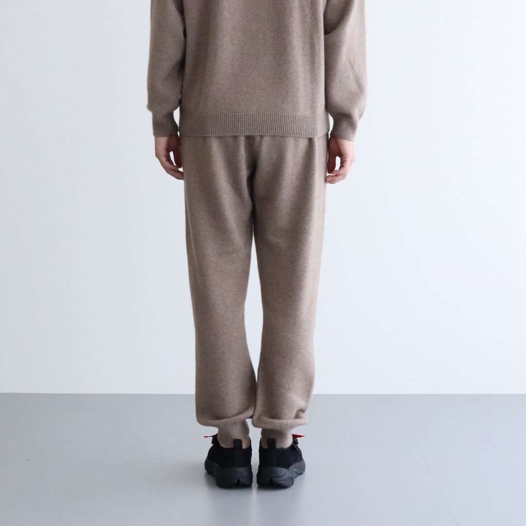 <img class='new_mark_img1' src='https://img.shop-pro.jp/img/new/icons1.gif' style='border:none;display:inline;margin:0px;padding:0px;width:auto;' />BABY CASHMERE KNIT PANTS #NATURAL BROWN [A20AP03BC]