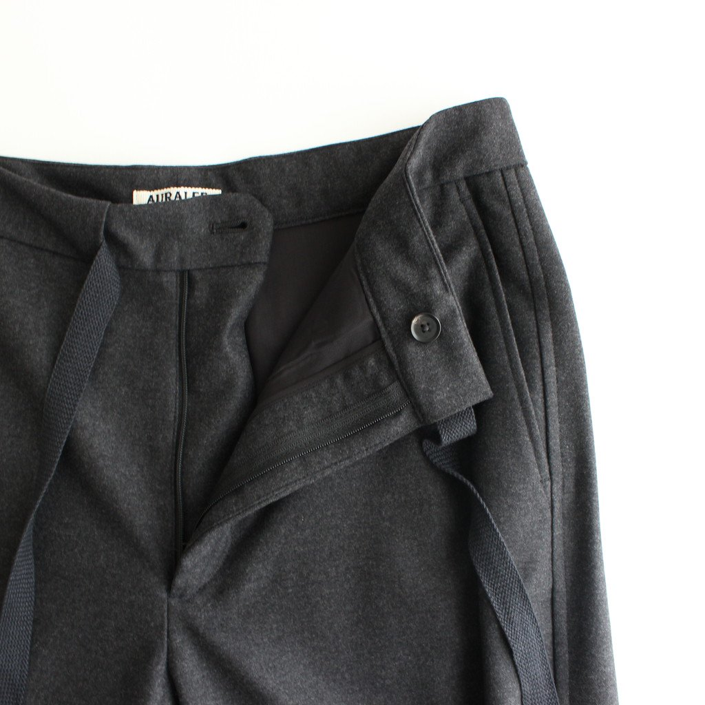 <img class='new_mark_img1' src='https://img.shop-pro.jp/img/new/icons1.gif' style='border:none;display:inline;margin:0px;padding:0px;width:auto;' />WOOL FULLING FLANNEL SLACKS #TOP CHARCOAL [A20AP03CF]